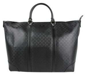 Gucci Hilary Lux Diamante Leather Tote in Black