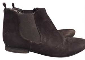 Charming Charlie Suede Ankle Zips Black Boots