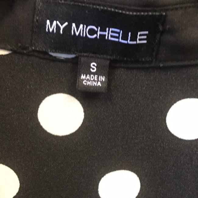 My Michelle Button Down Shirt black/white polka dot