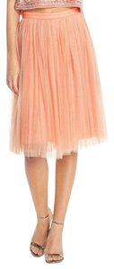 Needle & Thread Mini Skirt Peach