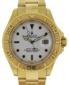 Rolex Rolex 16628 18k Yellow Gold Yachtmaster White Dial Watch