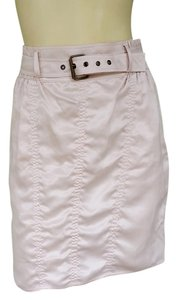 Derek Lam Pale Silk Belt Ruched Skirt Pink