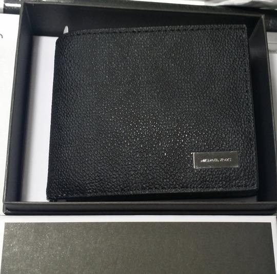 Michael Kors MICHAEL KORS MEN'S JET SET Logo Black BILLFOLD WALLET