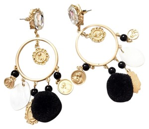 beautiful DG style baroque gold angel earrings $58 baroque gold earrings
