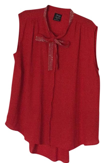 Preload https://img-static.tradesy.com/item/21165777/red-and-silver-studded-blouse-size-22-plus-2x-0-1-650-650.jpg