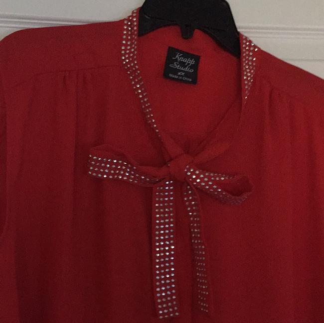 Knapp studio Top red and silver