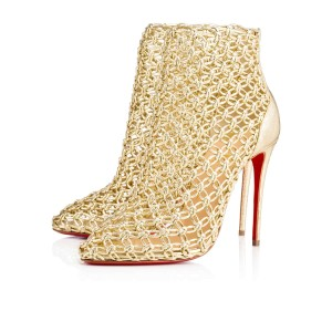 Christian Louboutin Andaloulou 100mm 4 Inches New gold Pumps