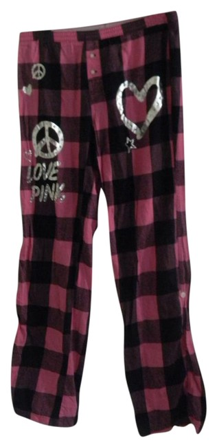 Item - Black/Pink Brand Pajama/Lounge Pants Size 6 (S, 28)
