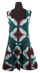 Marni short dress Teal, Maroon & White Sleeveless Kaleidoscope on Tradesy
