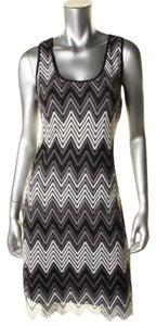 Robert Michaels short dress Black and White Geometric Sexy Sleeveless Pullover Crochet on Tradesy