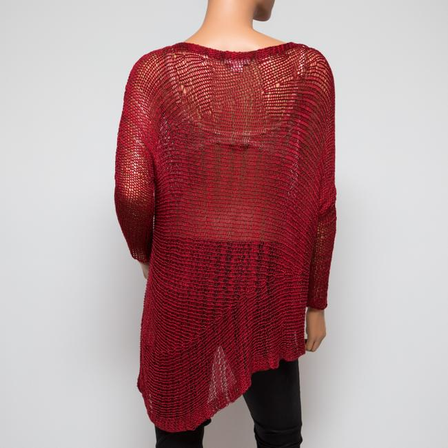 Helmut Lang Italian Yarn Viscose Asymmetrical Sweater