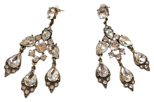 beautiful chandelier style crystal evening earrings$78 chandelier long Evening earrings $78
