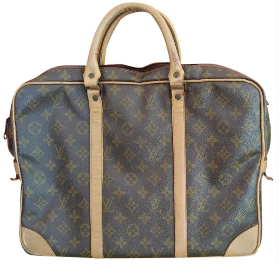 6f8f96a6c909 Louis Vuitton Porte Documents Voyage Monogram Canvas Coated and Leather Laptop  Bag