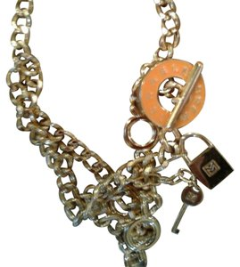 Michael Kors Michael Kors Gold Chain Link Toggle Necklace