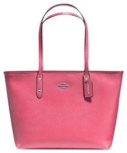 Coach 36875 Satchel 36876 Tote in SILVER/Strawberry