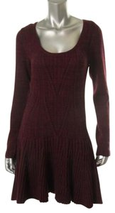 Victoria's Secret short dress Wine Sexy Sweater Crochet Pointelle Fit And Flare on Tradesy
