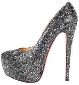 Christian Louboutin dark silver Pumps