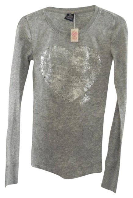 Preload https://img-static.tradesy.com/item/21166215/victoria-s-secret-grey-pink-silver-metallic-long-sleeve-xs-tee-shirt-size-2-xs-0-1-650-650.jpg