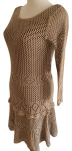 Victoria's Secret short dress Brown Crochet Pointelle Sexy Fit And Flare Knee Length on Tradesy