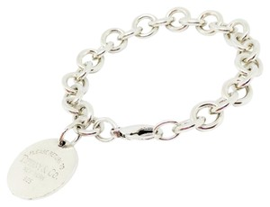 Tiffany & Co. Sterling Silver Return To Tiffany Disc Charm Bracelet