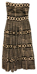 Tracy Reese Strapless Print Striped Dress