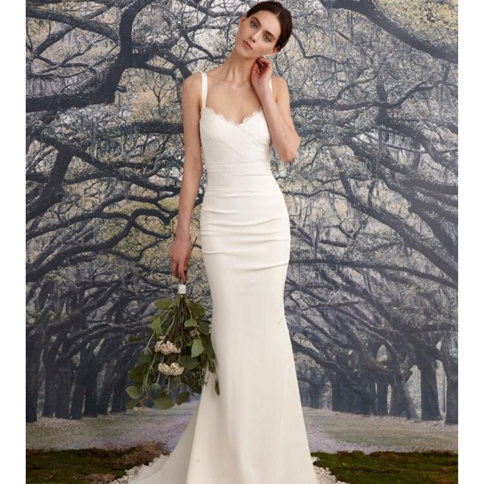 Nicole miller bridal ivory tonya gown wedding dress size 4 s 123456 junglespirit Gallery