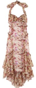 Zac Posen Halter Siren Floral Dress