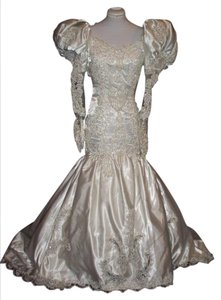 Lilli International Wedding Satin Puffi Vintage Dress
