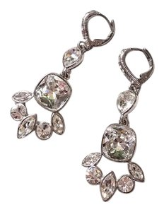 Givenchy Givenchy silver crystal Evening earrings