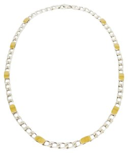 Tiffany & Co. Sterling Silver and 18k Gold Curb Link Necklace
