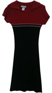 The Great American Sweater (GAS) short dress Black and Red Stretchy Summer & on Tradesy
