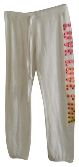 Item - White Love Love Pink Studded Graphic Sweats Lounge Pants Size 6 (S, 28)