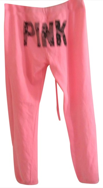 Preload https://img-static.tradesy.com/item/21166762/victoria-s-secret-pink-black-lace-graphic-sweats-lounge-relaxed-fit-pants-size-8-m-29-30-0-1-650-650.jpg