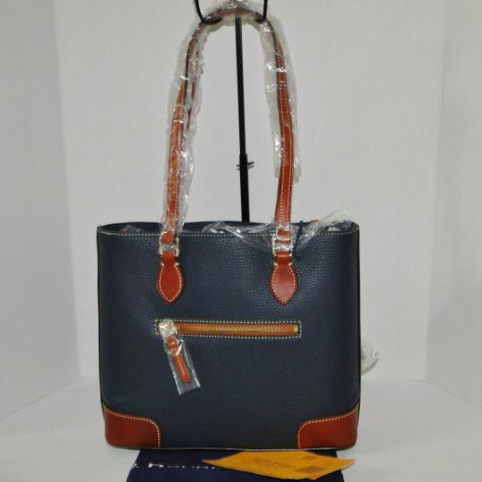 Dooney & Bourke Ricmond Leather Coin Tote in Marine Blue