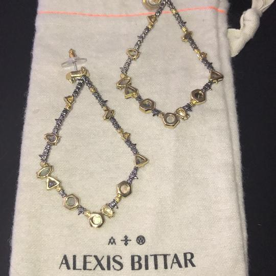 Alexis Bittar Elements Teardrop Earrings with natural stones