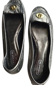 Coach Dark metallic gold Flats