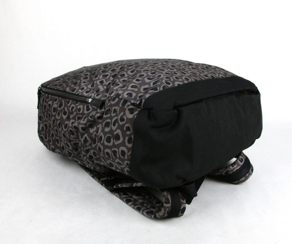 d9e699c9f6a7 Gucci Gray/Brown Leopard Print Canvas Backpack Image 10. 1234567891011