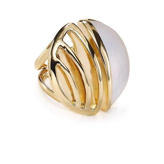 Preload https://img-static.tradesy.com/item/21166862/alexis-bittar-gold-white-ab-lucite-cocktail-ring-0-0-540-540.jpg
