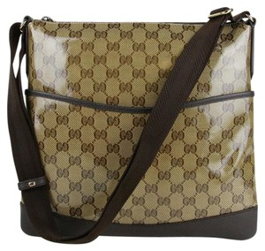 Gucci Crystal Gg Coated Canvas Backpack