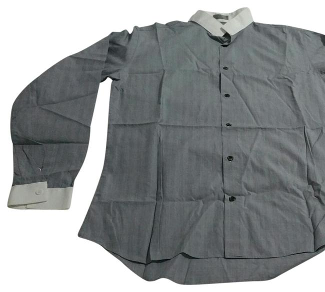 Preload https://img-static.tradesy.com/item/21166956/dior-grey-long-eeves-button-down-top-size-12-l-0-1-650-650.jpg