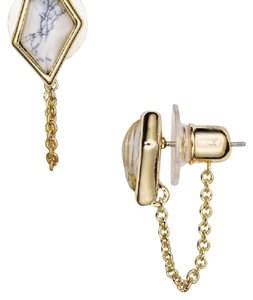 Alexis Bittar Miss Havisham Chain Stud Earrings
