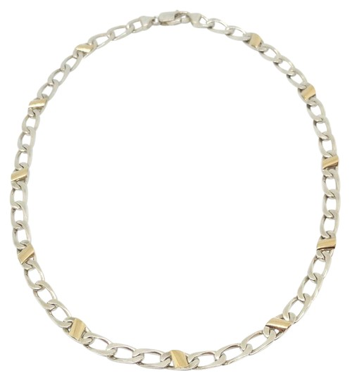 Preload https://img-static.tradesy.com/item/21166995/tiffany-and-co-silver-and-gold-italian-curb-link-necklace-0-4-540-540.jpg