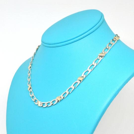 Tiffany & Co. Silver and Gold Italian Curb Link Necklace