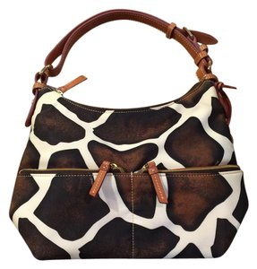 Dooney & Bourke & Giraffe Animal Satchel in Brown & Ivory