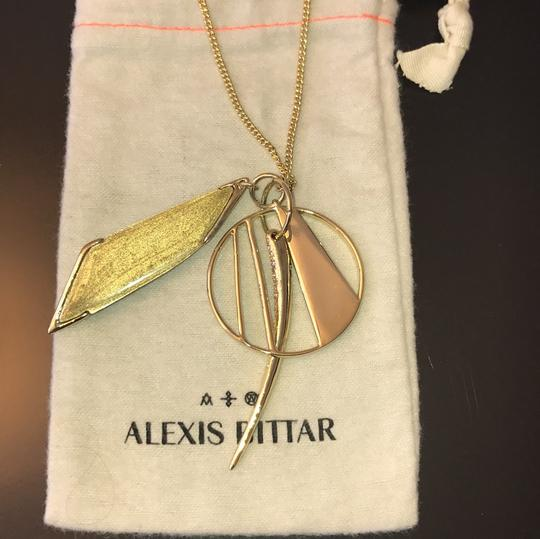 Alexis Bittar Lucite Crystal Encrusted Pendant Necklace