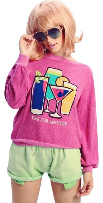 Preload https://img-static.tradesy.com/item/21167159/wildfox-purple-blue-green-yellow-pink-white-time-for-another-sweatshirthoodie-size-6-s-0-1-650-650.jpg