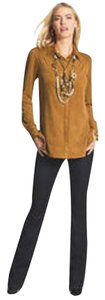 Chico's Button Down Shirt Camel