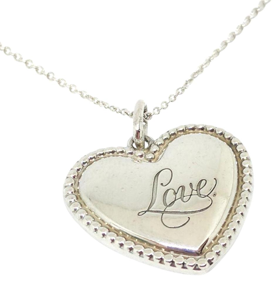 Tiffany co rare silver love heart pendant necklace tradesy rare silver love heart pendant necklace 123456789 mozeypictures Images