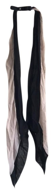 Item - Black Nude Silver Silk Scarf/Wrap