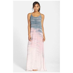 Pink And Gray Maxi Dress by Hard Tail